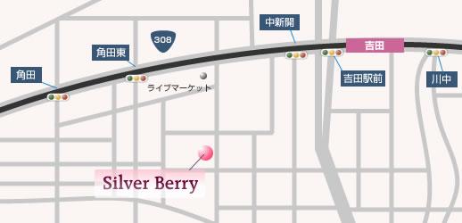 シルバーベリー map